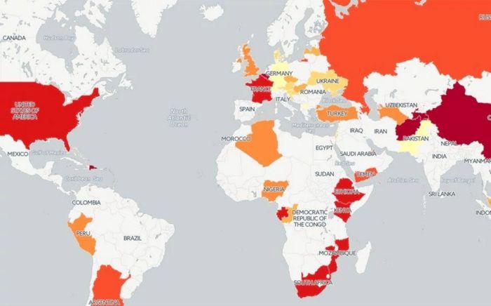 Οι πιο «hackable» χώρες του κόσμου (χάρτης)