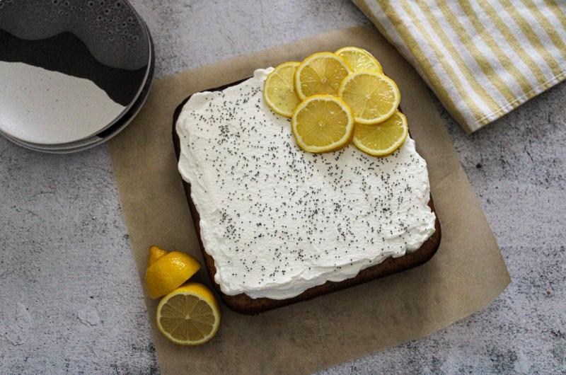 Lemon Poppy Yogurt Cake