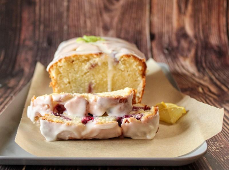 Iced Lemon Blueberry Pound Cake