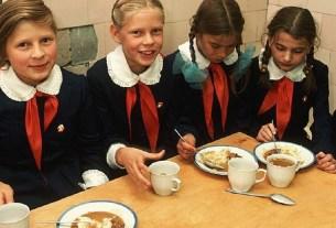 СССР, советские блюда, школьная соловая