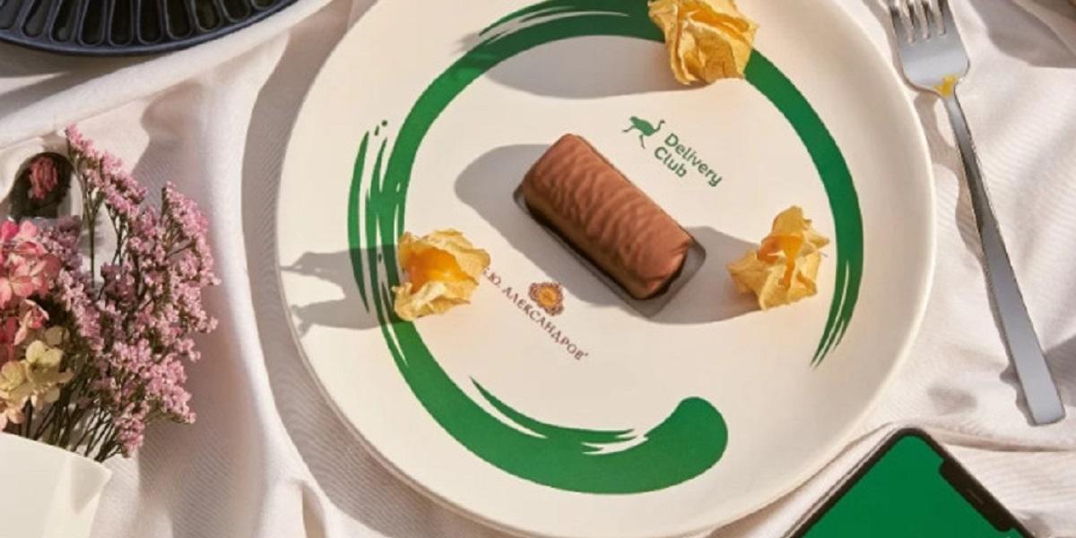 «Б.Ю. Александров», шоколадные сырки, тарелка для сырков