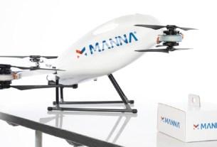 Tesco, доставка дронами, Ирландия, Manna Aero,