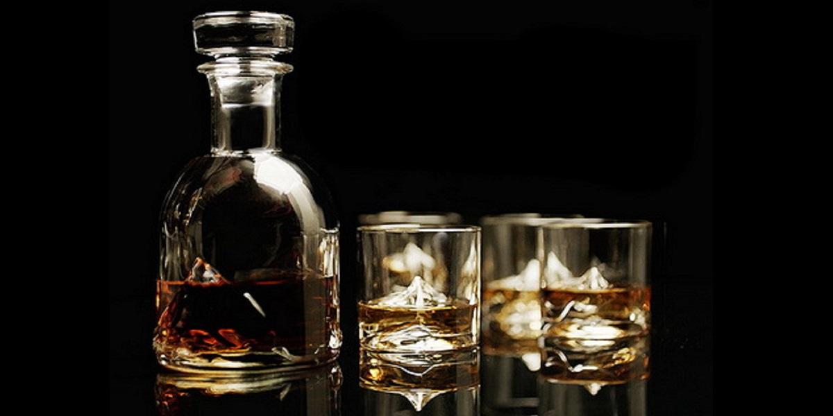 Стакан Everest Whiskey Glass, стакан для виски, стакан с горой Эверест