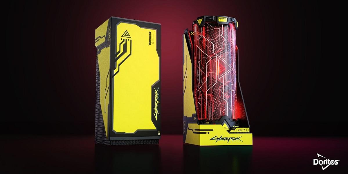 PepsiCo, Doritos, Doritos CyberPunk 2077, чипсы, футуристичный мир, упаковка