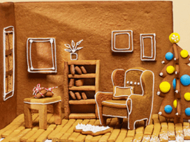IKEA, Канада, пряничный домик, Gingerbread Höme, имбирное печенье