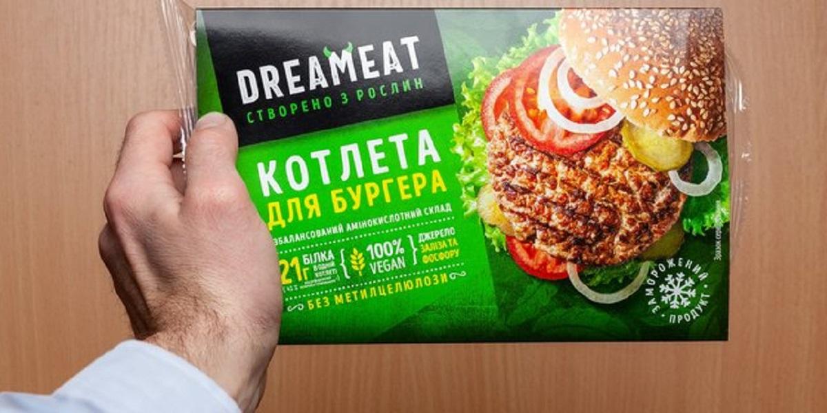 Dreameat, кондитерская АВК, Украина, растительное мясо без бумаги