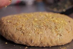 Gold Leaf Bread, золотой хлеб, 4 дорогих продукта, «Пуле» (Pule), ослиный сыр, «пери балы» («сказочный мед»)