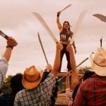 Президент Мексики, мачете против сорняков, мачете и глифосат