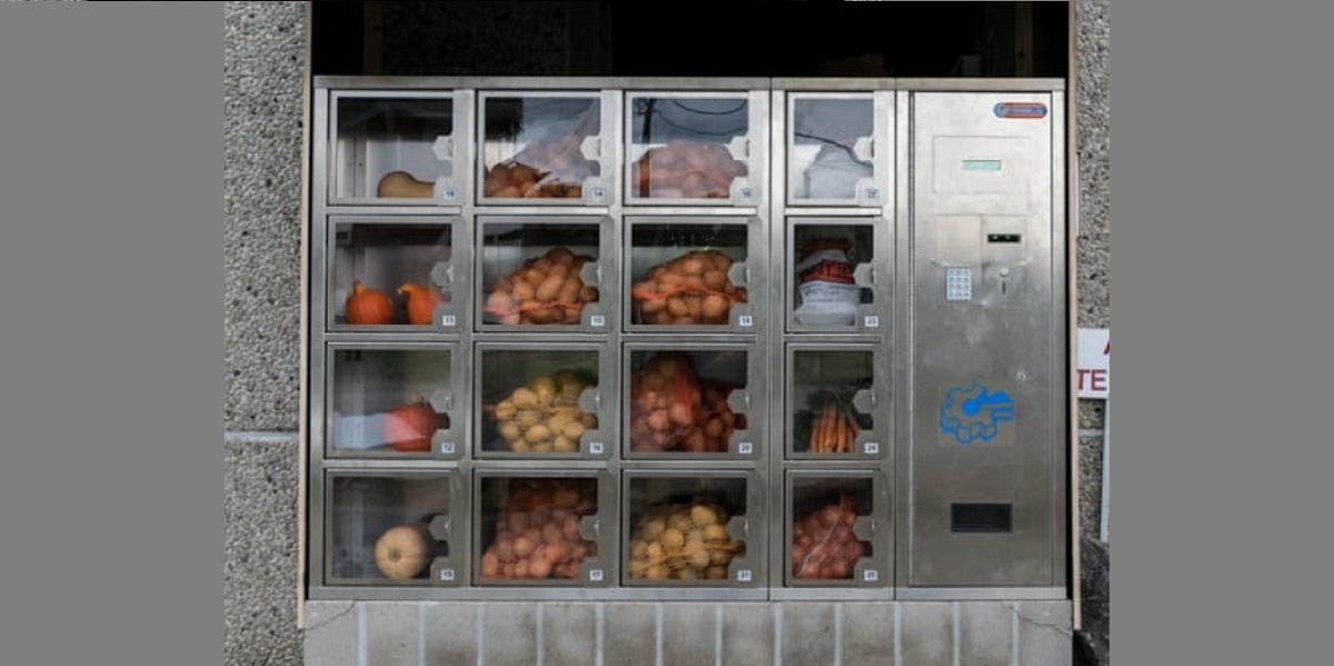 вендинг овощами, торговый автомат, польские овощи