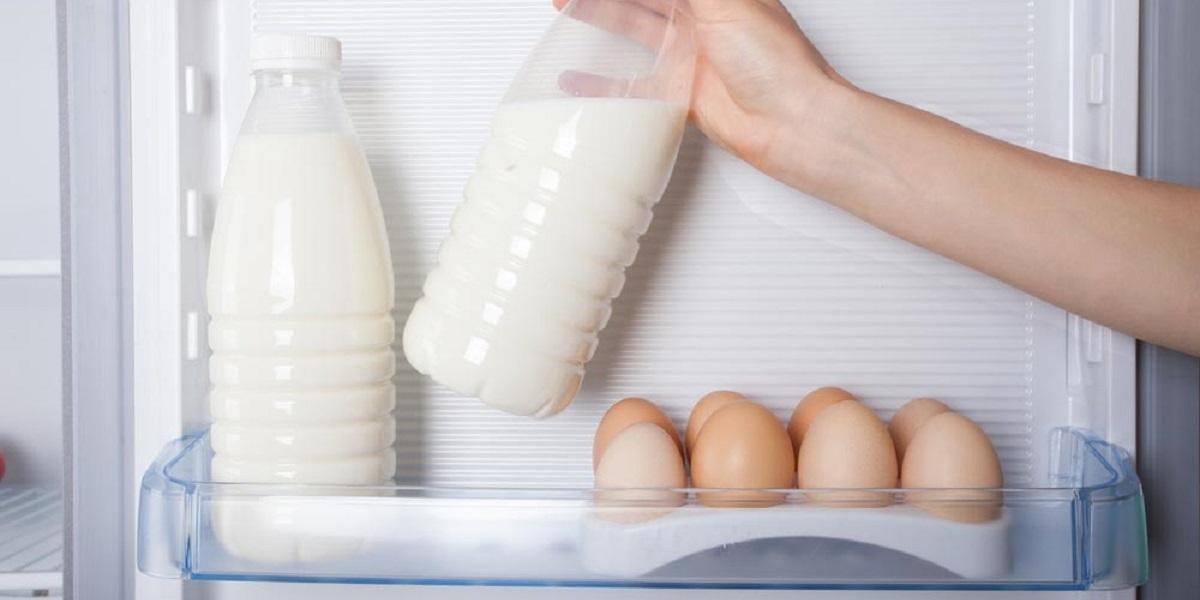 Габриэла Кауфман, молоко в холодильнике, дверца холодильника