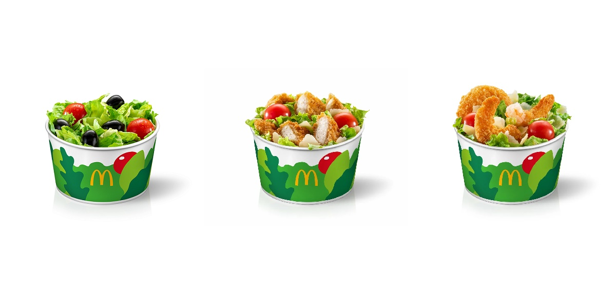 «Макдоналдс», три салата, уменьшенный салат