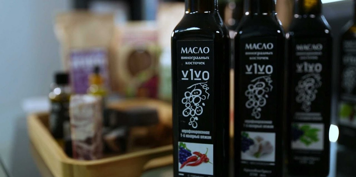 «V1VO», масло из виноградной косточки, производство, Крым, масло из отходов винного производства