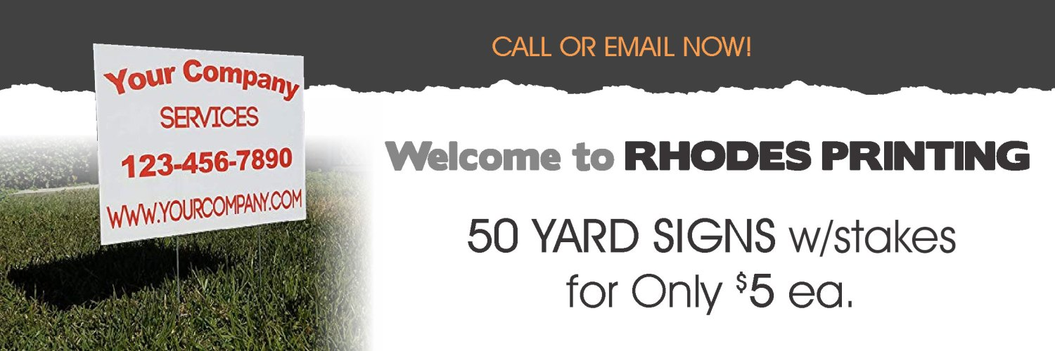 yard signs deal