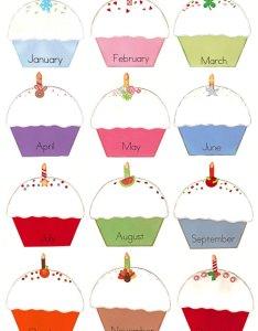 Birthday cupcakes also calendar kindergarten rh kindergartenkindergarten