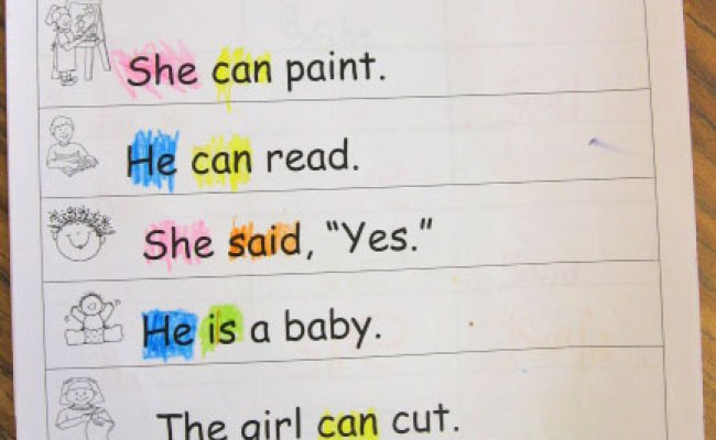 Sight Word Practice Pages Kindergarten Kindergarten