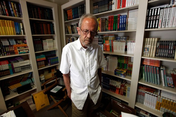 Elmore Leonard, 86, stands in his Bloomfield Township, Mich., home in 2012.  (AP Photo/Paul Sancya)