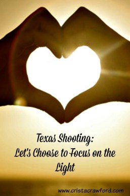 Choosing to focus on the light when darkness entered the small church in Texas.