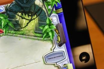 Detalhe do gráfico na tela retina do iPad. Foto: Nepô.