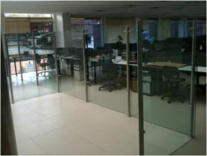 Divisiones oficina Cristal templado