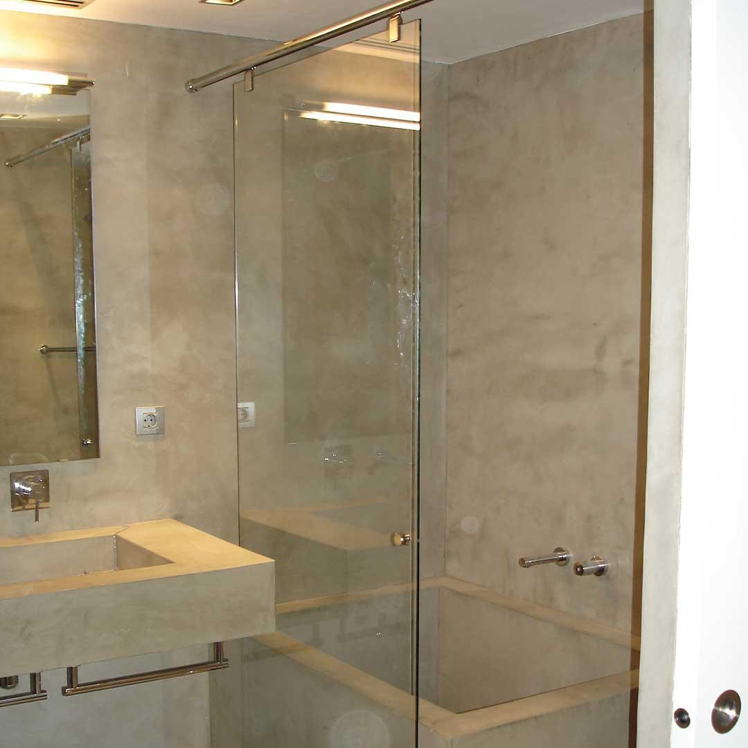 Cierre completo en vidrio para baño y espejo