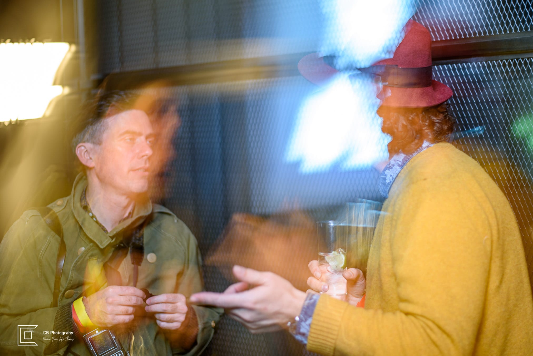 People talking during a party