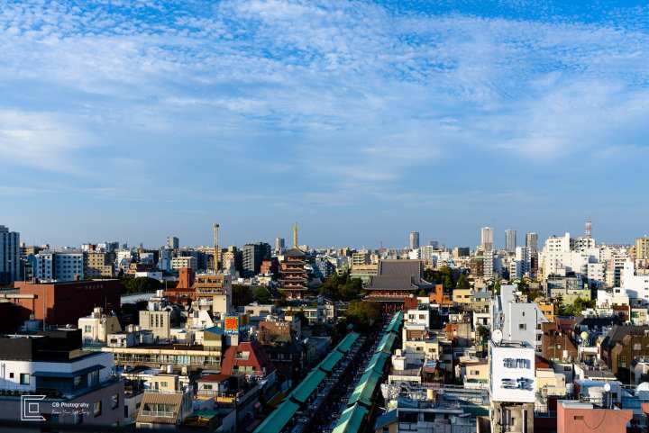 Asakusa Area photographed from the government building by Cristian Bucur Photographer in Tokyo Metropolitan Area
