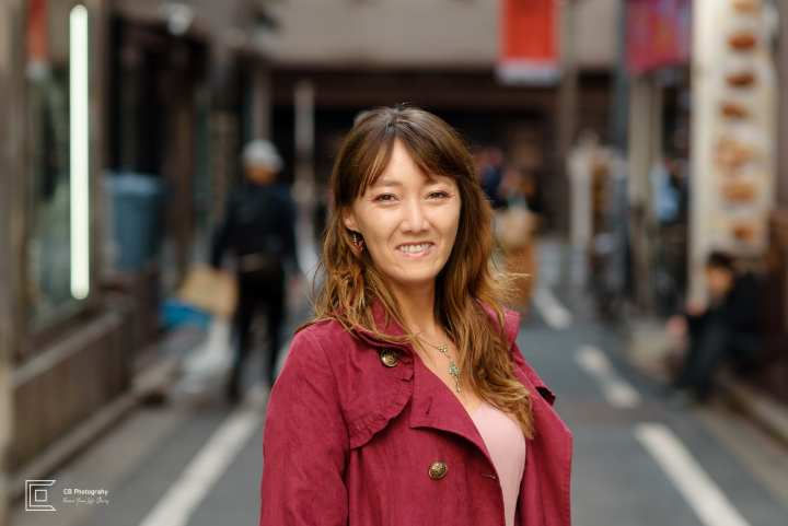 Portrait of a young woman wearing business outfit taken in Shibuya by the Tokyo portrait photographer Cristian Bucur