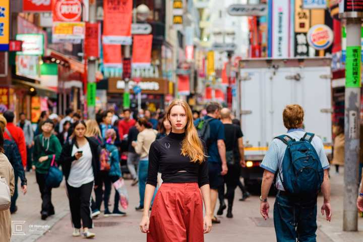 Outdoor portrait photoshoot in Shibuya, by the Tokyo photographer Cristian Bucur