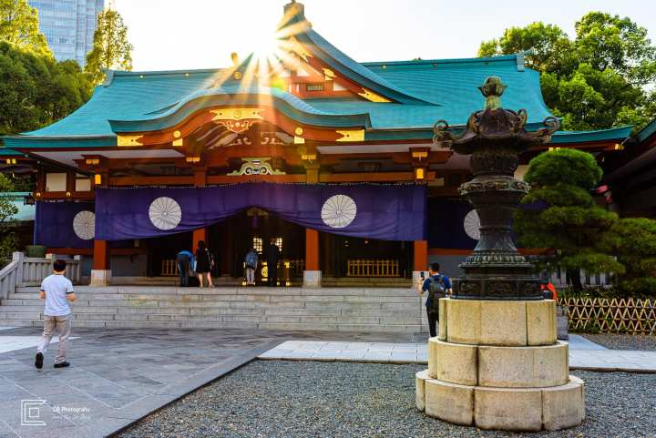Travel photography. The main building of the the Hie Shrine, photographed by Cristian Bucur Photographer in Tokyo Metropolitan Area