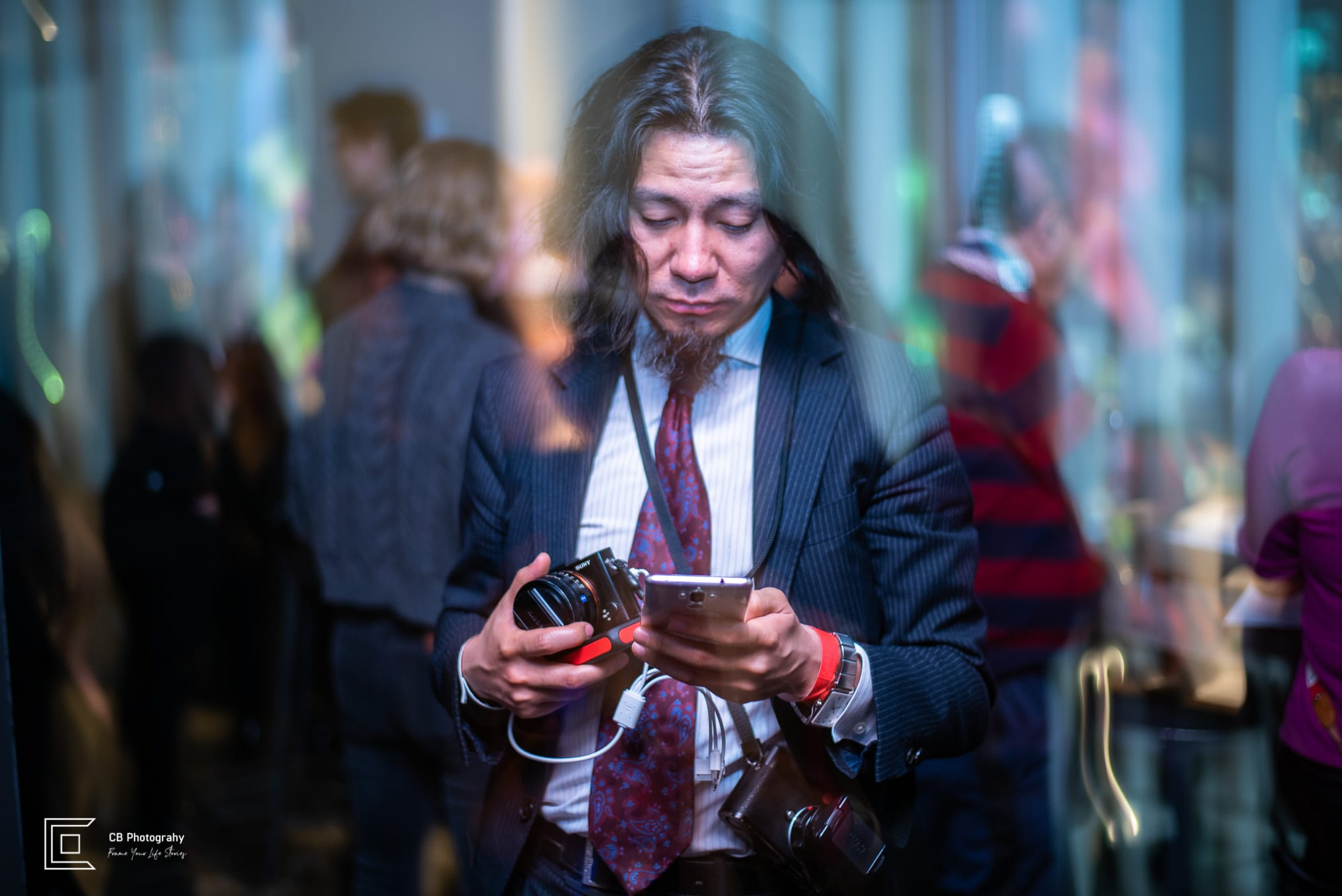 Portrait taken during an event in Tokyo by Cristian Bucur