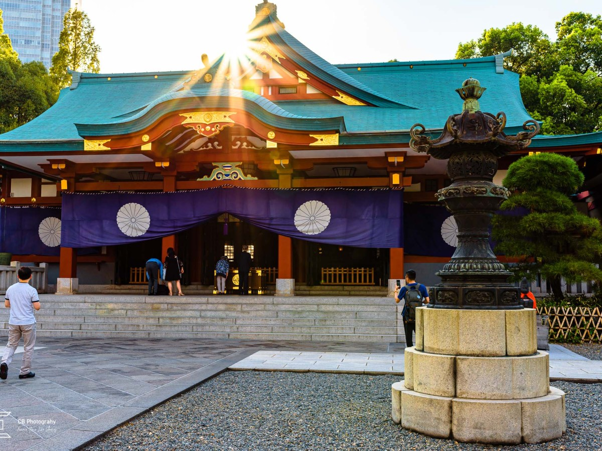 Main building of the Hie Shrine, view in the afternoon