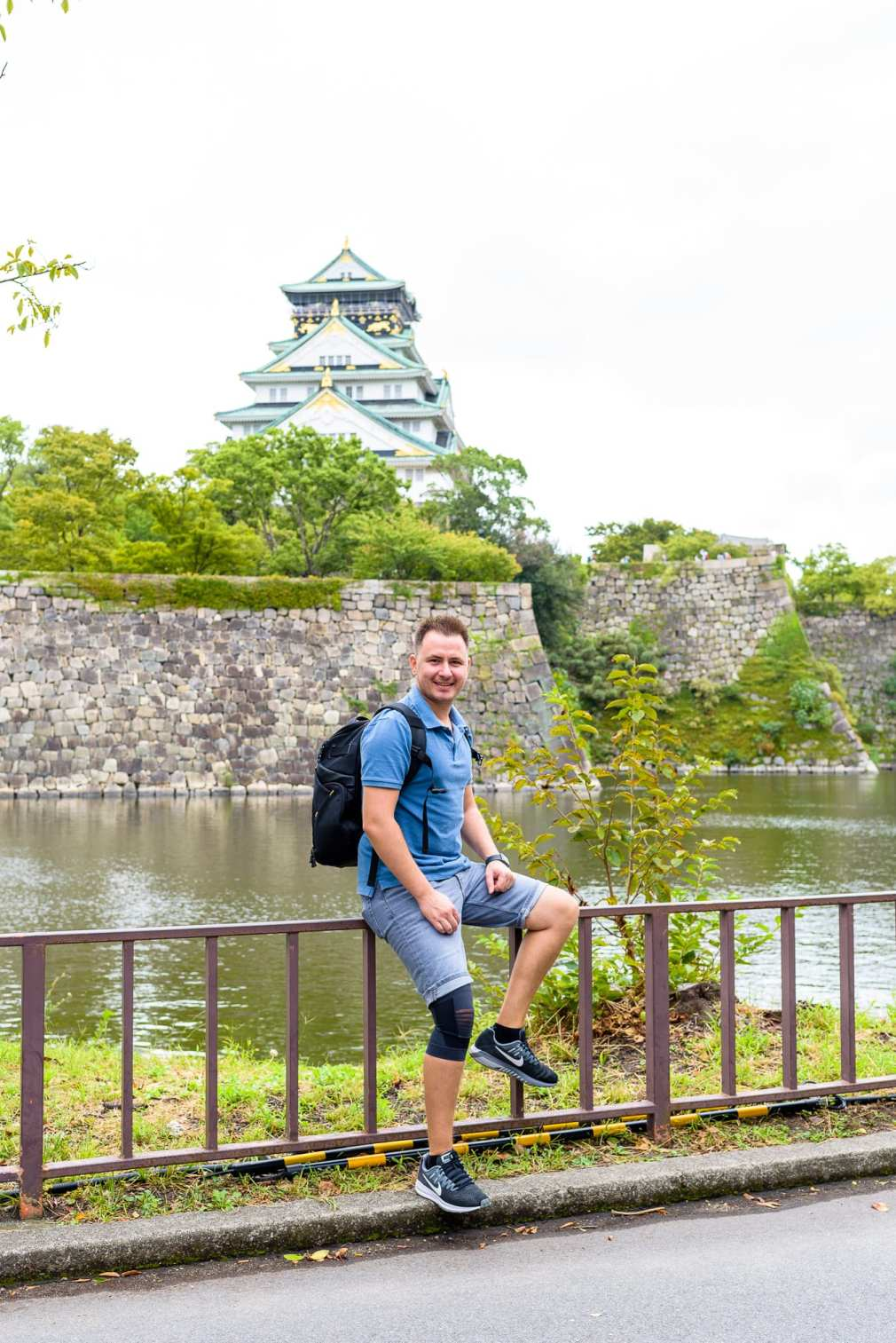 Cristian Bucur Photographer Portrait Osaka Castle in the Background