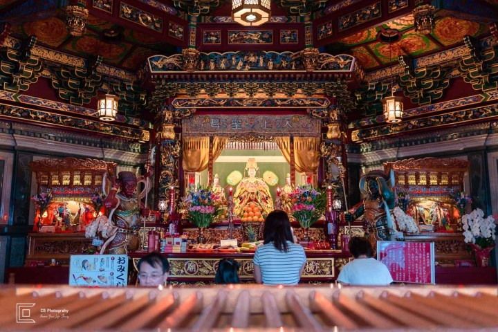 Details from inside of the Masobyo Chinese Temple