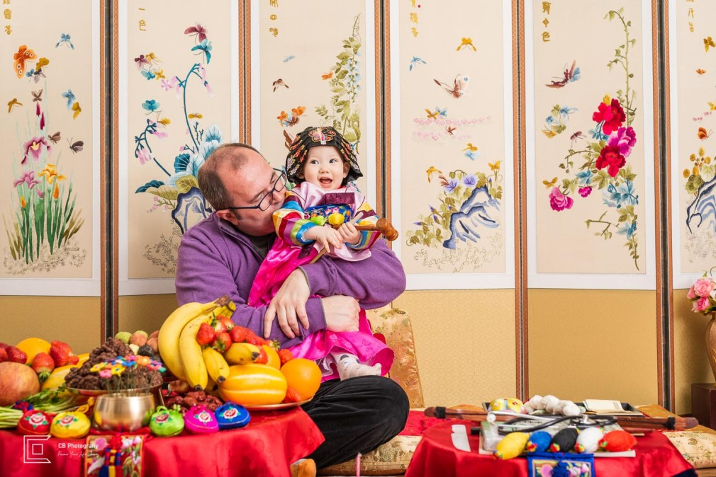 Private events: happy father and his daughter