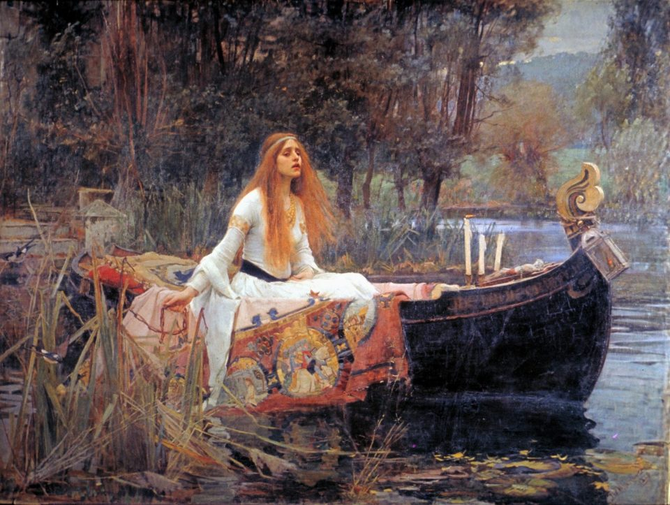 La signora di Shalott di John William Waterhouse 1888 foto www.wikipedia.org