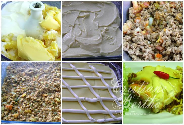 receita de escondidinho preparado com soja proteína texturizada de soja