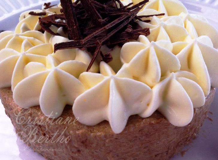 receita de sobremesa pavê preparada com capuccino e nata fresca