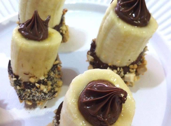Banana com nutella