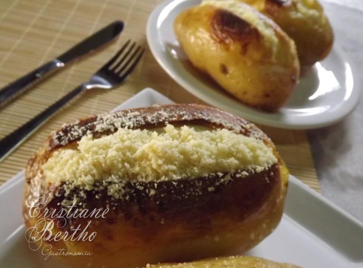 Receita de batata recheada com creme de ricota e frango defumado