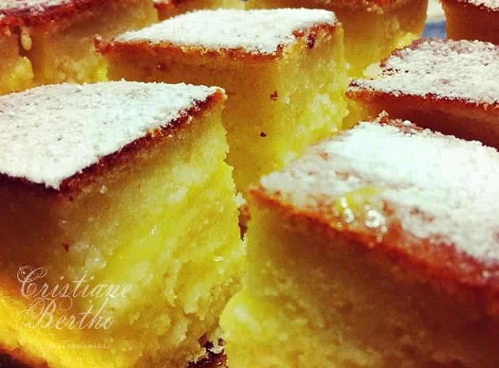 Receita de bolo preparado comlaranja e recheado com creme de limão