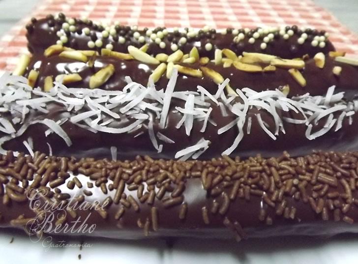 Receita de chocolate e caramelo formato palitos