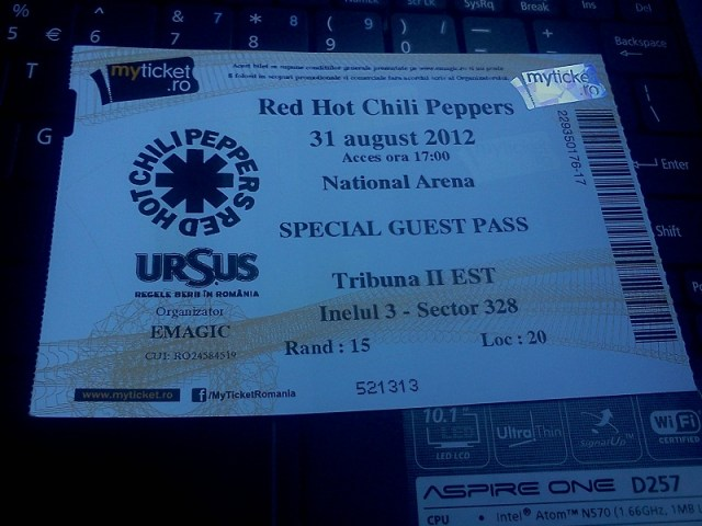 red hot chili peppers romania
