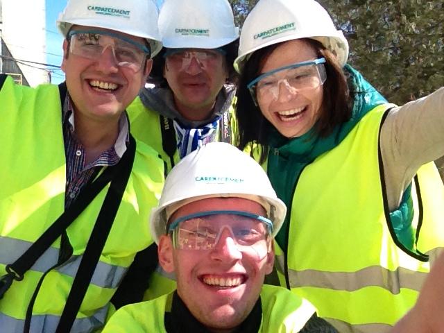 selfie fabrica de ciment de la chiscadaga
