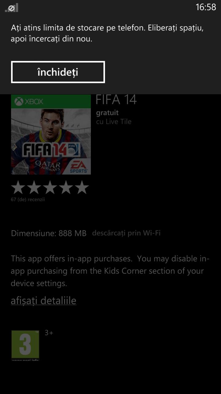 eroare FIFA - nokia 1320