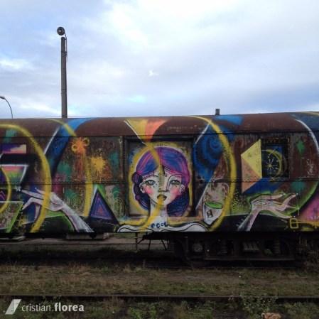 trenul cu graffiti din Cluj 1