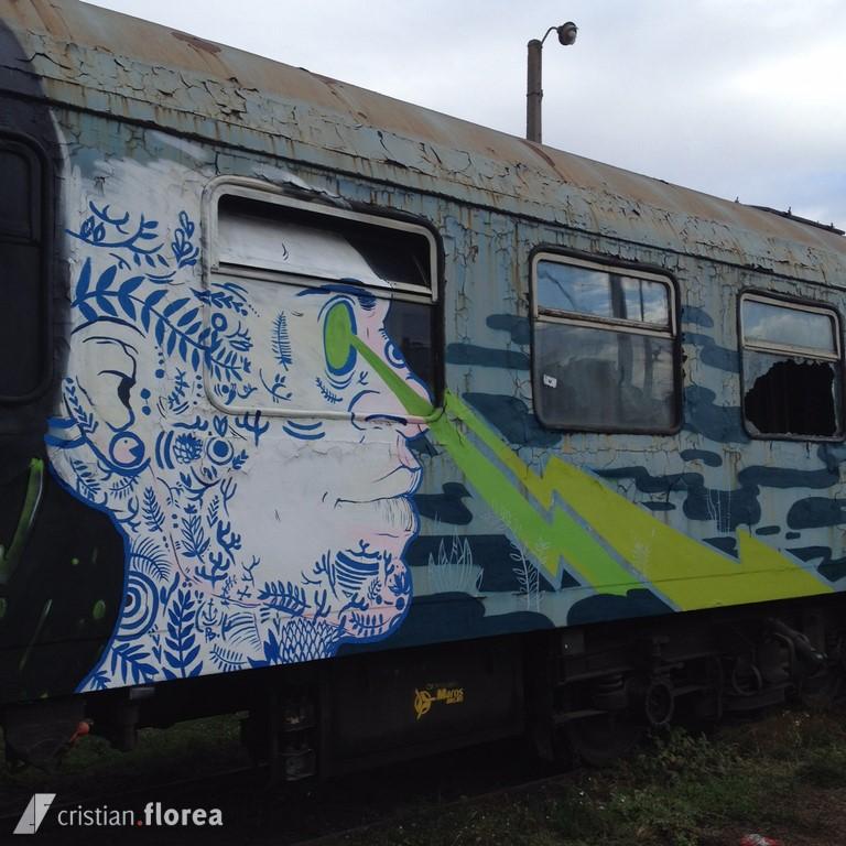 trenul cu graffiti din Cluj 4