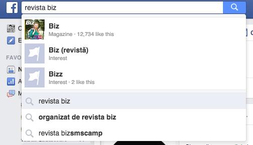 cautare pe Facebook