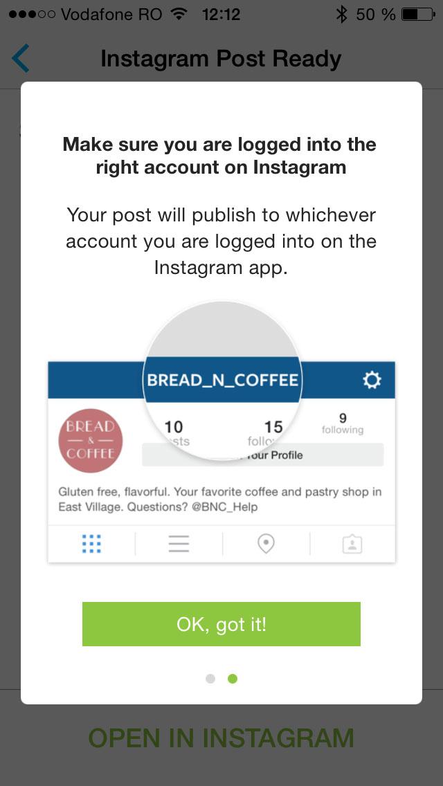 programarea postarilor pe instagram 2