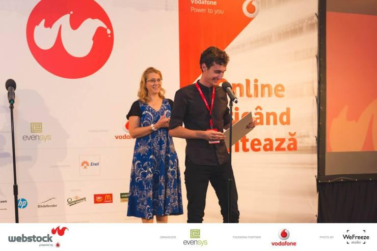 cristian florea - premiu webstock awards 2015