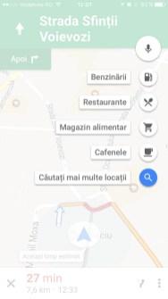 google maps pentru iPhone - pit-stop